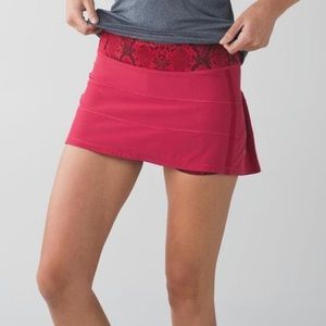 Pace Rival Tennis Skirt Red Snake Print Mini
